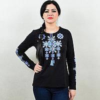 """Трикотажная футболка вышиванка длинный рукав """"Писанка"""""""