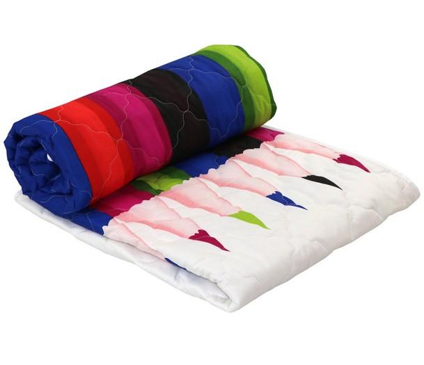 Одеяло Руно шерстяное полуторное 140x205 Сатин Облегченное 160г/м.кв (321.137ШК_Pencils)