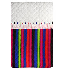Одеяло Руно шерстяное полуторное 140x205 Сатин Облегченное 160г/м.кв (321.137ШК_Pencils), фото 2