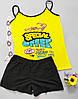 Одежда домашняя майка шорты желтая пижама женская Mody