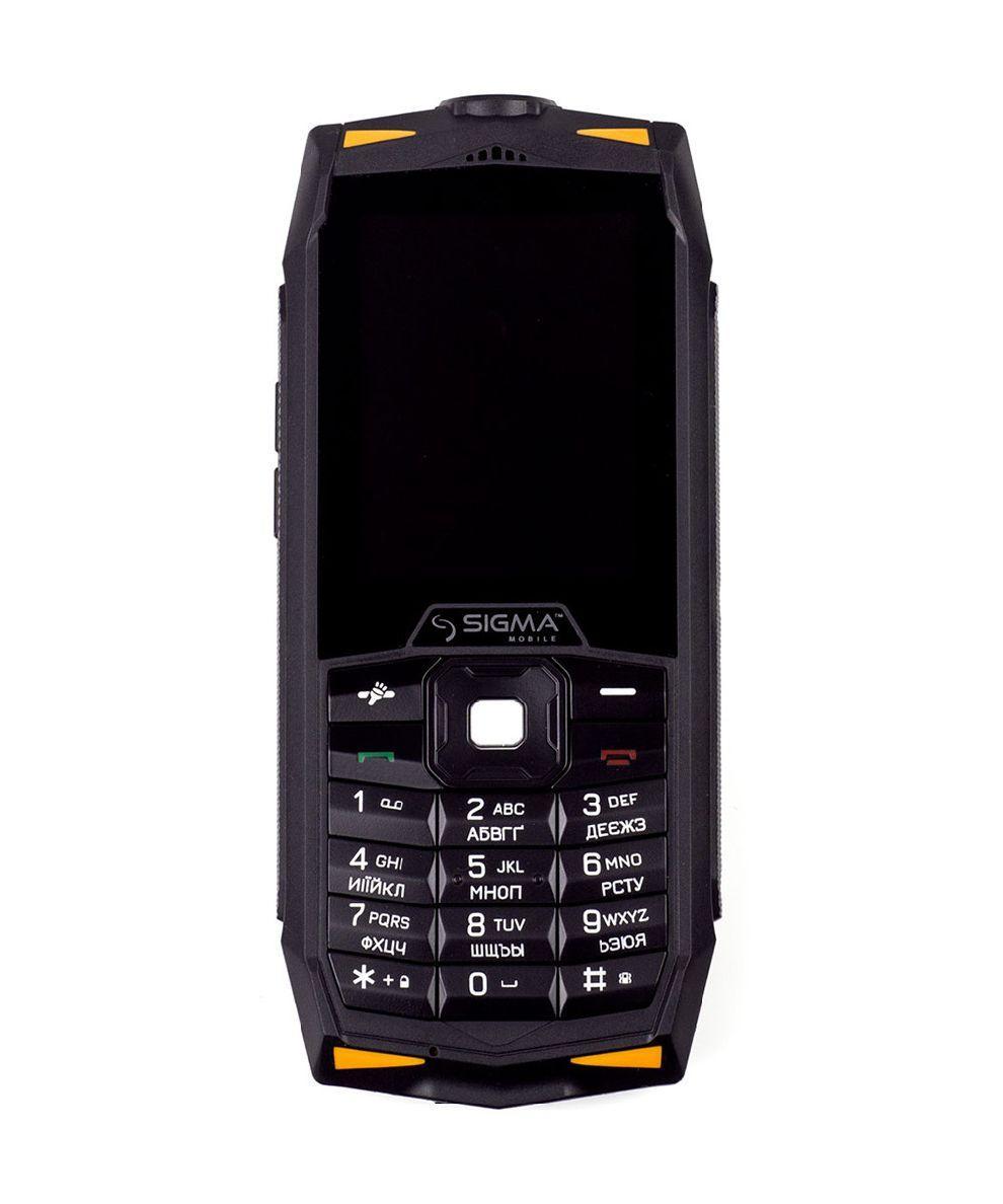 Кнопочный защищенный телефон IP68 на 2 сим карты Sigma mobile X-treme DR68