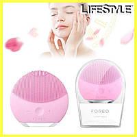 Электрическая щетка-массажер для лица FOREO LUNA mini 2 / Силиконовая щетка, Массажер для лица