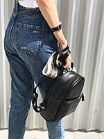 Женский мини рюкзак черный, фото 1