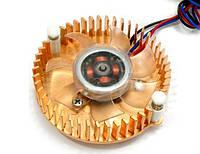 Вентилятор gembird vc-re для видеокарты с подсветкой медный