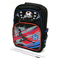 3459 Рюкзак подростковый школьный для мальчика  Футбол 40*28*12 см