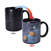 """Чашка хамелеон """"Солнечная система"""" (330 мл), фото 1"""