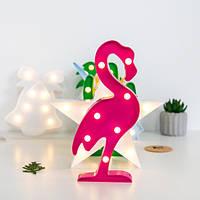 Светильник ночник 3D Фламинго, фото 1