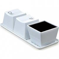 Набор чашек кнопок Ctrl Alt Del (3х600 мл) белые