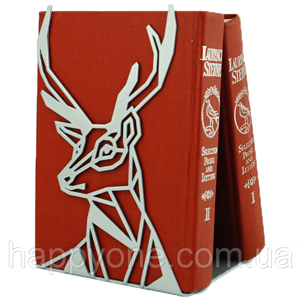 Металлический упор для книг Glozis Deer