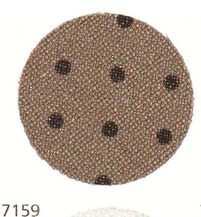 Zweigart (Murano Lugana) Мурано Лугана 32 ct - бежева з коричневим горошком