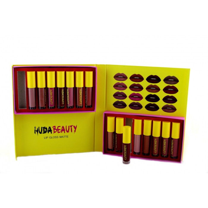 Набор помад Victoria's Secret Huda Beauty 16 оттенков ( 88288 )