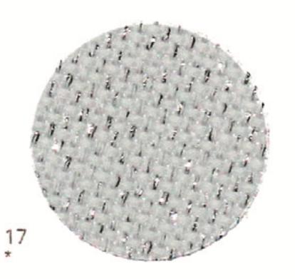Тканина Zweigart (Aida) Аіда 14 ct - біла з сріблястим люрексом