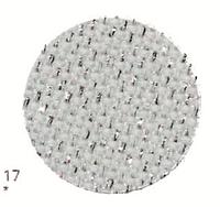 Zweigart (Aida) Аіда 14ct - біла з сріблястим люрексом