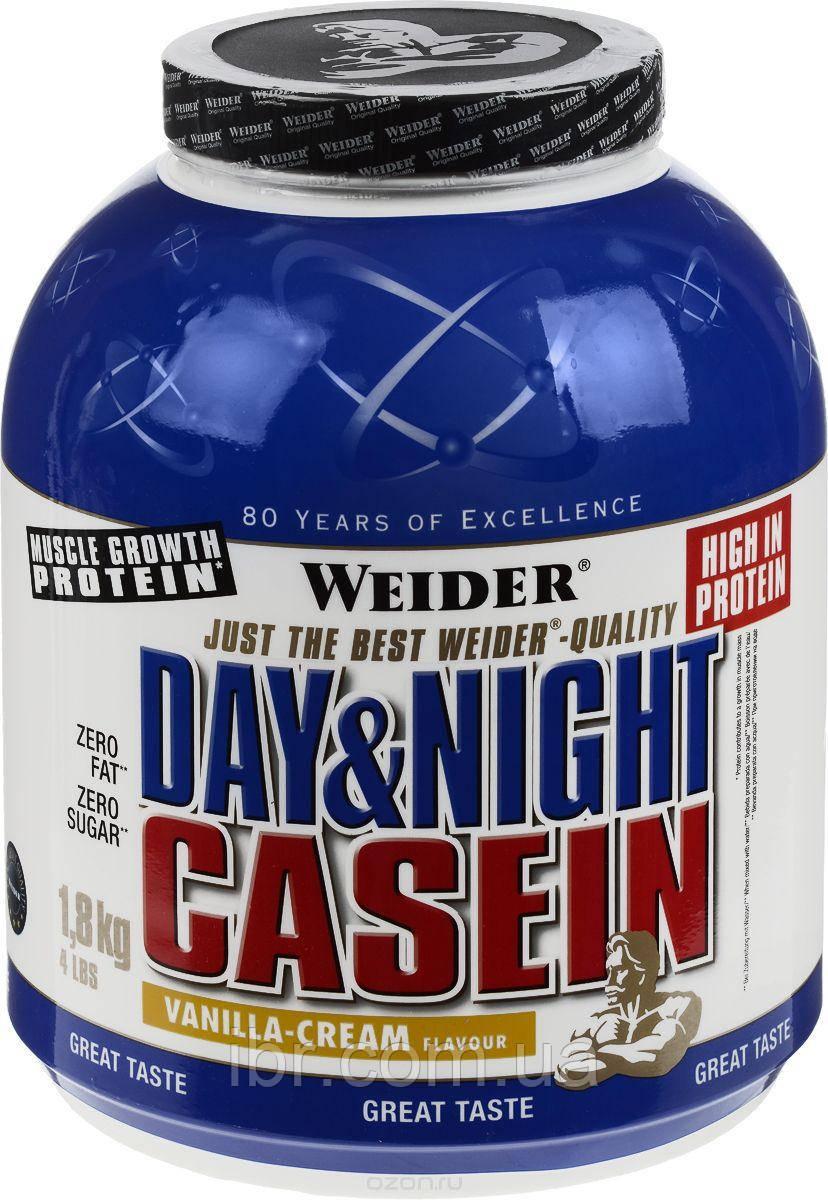 Протеин WEIDER DAY&NIGHT CASEIN 1,8 kg Vanilla-Cream