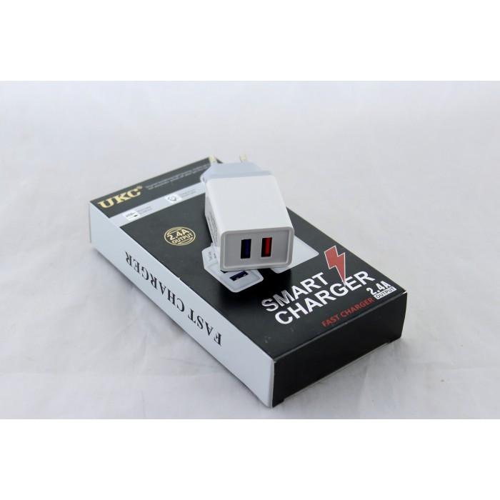 Сетевое зарядное устройство UKC Fast Charge AR 001 c 2 USB портами ( 88288 )