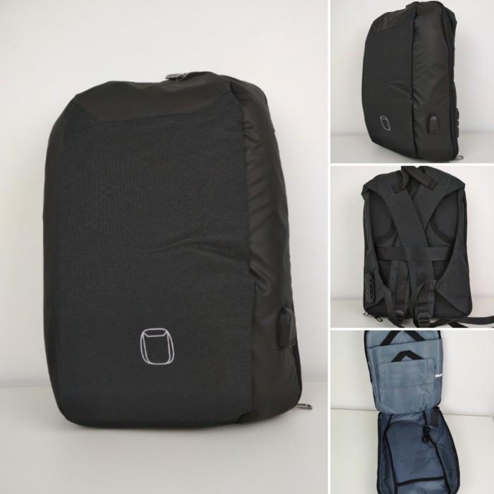 Рюкзак Антивор Bobby c защитой от карманников и кодовым замком Чёрный, фото 1