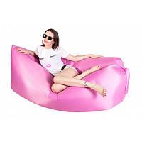 Ламзак надувной диван Lamzac гамак, шезлонг, матрас Двухслойный Розовый ( 88288 ), фото 1