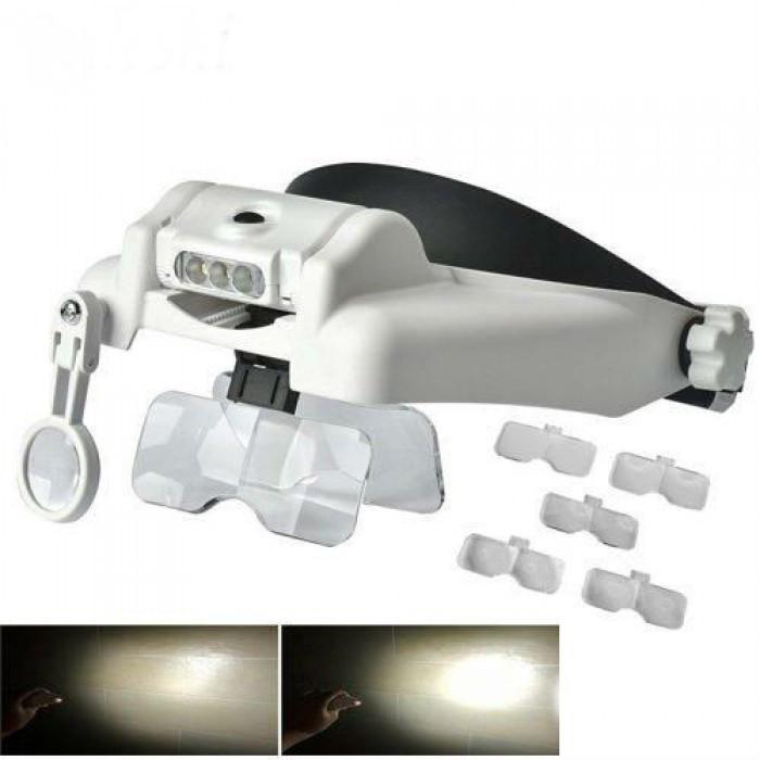 Бинокуляр очки бинокулярные со светодиодной подсветкой MG82000MC, фото 1