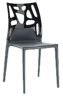 Стул Papatya Ego-Rock антрацит сиденье, верх черный