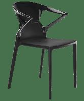 Кресло Papatya Ego-K черное сиденье, верх черный, фото 1