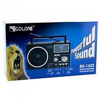 Портативный радио приемник GOLON RX 1425 USB FM Чёрный ( 88288 )