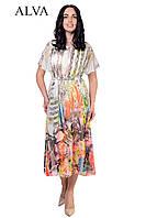 Струящееся платье яркого,разного принта., фото 1
