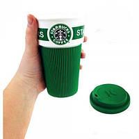 Чашка керамическая кружка Starbucks Зелёная