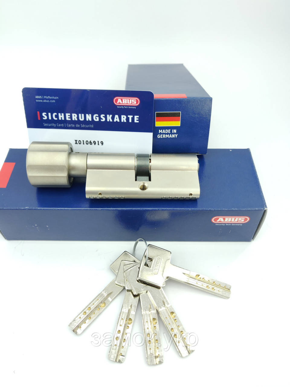 Цилиндр замка Abus M12R ключ/тумблер (Германия)