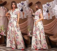 Длинное нарядное платье с цветами