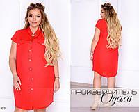 Платье-рубашка летнее штапель 48,50,52,54, фото 1