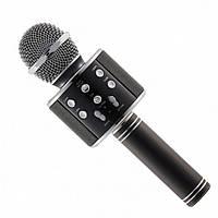 Беспроводной микрофон караоке блютуз WS-858 Bluetooth динамик USB Чёрный