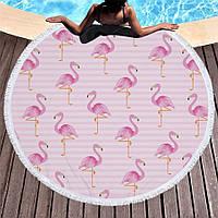 """Пляжный коврик """"Фламинго"""" (155 см)"""