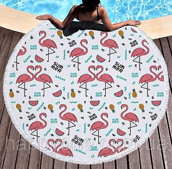 """Пляжний килимок """"Фламінго Summer"""" (155 см)"""