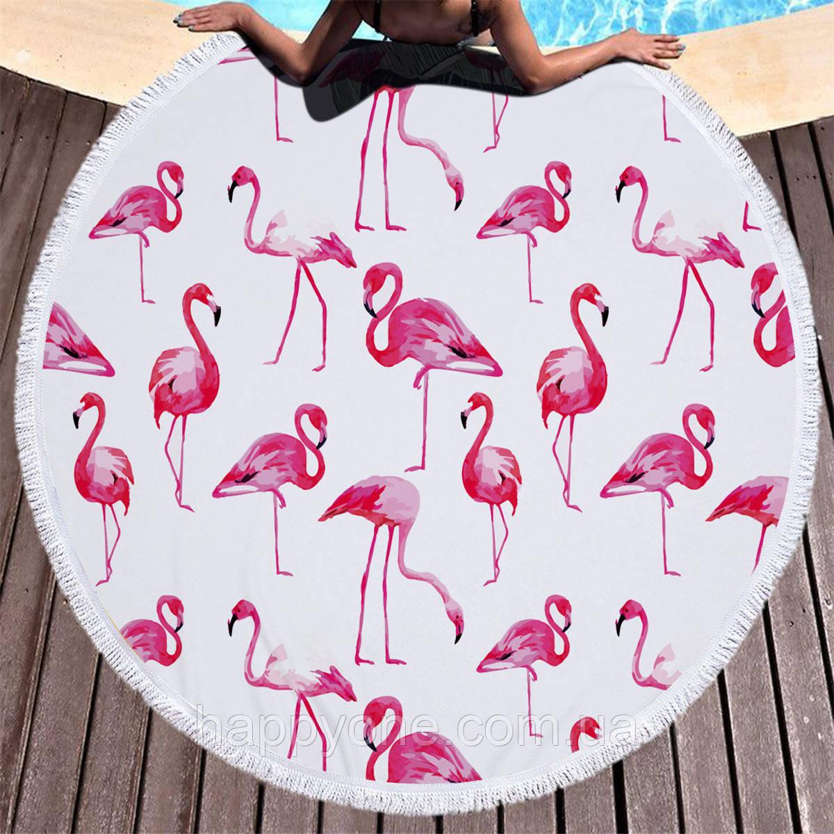 """Пляжный коврик """"Розовый Фламинго"""" (150 см)"""