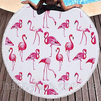 """Пляжний килимок """"Рожевий Фламінго"""" (150 см)"""