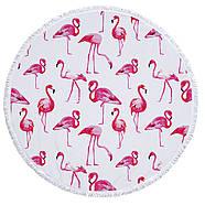 """Пляжный коврик """"Розовый Фламинго"""" (150 см), фото 2"""