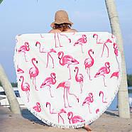 """Пляжный коврик """"Розовый Фламинго"""" (150 см), фото 3"""