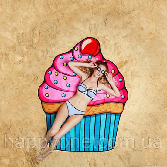 """Пляжный коврик """"Кекс"""" (150 см)"""