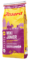 Сухой корм Josera mini junior для щенков мелких пород с уткой и лососем 15кг