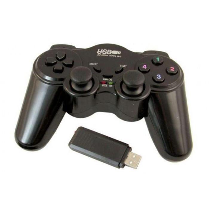Беспроводной bluetooth джойстик для ПК PC GamePad DualShock вибро EW-800 ( 88288 )