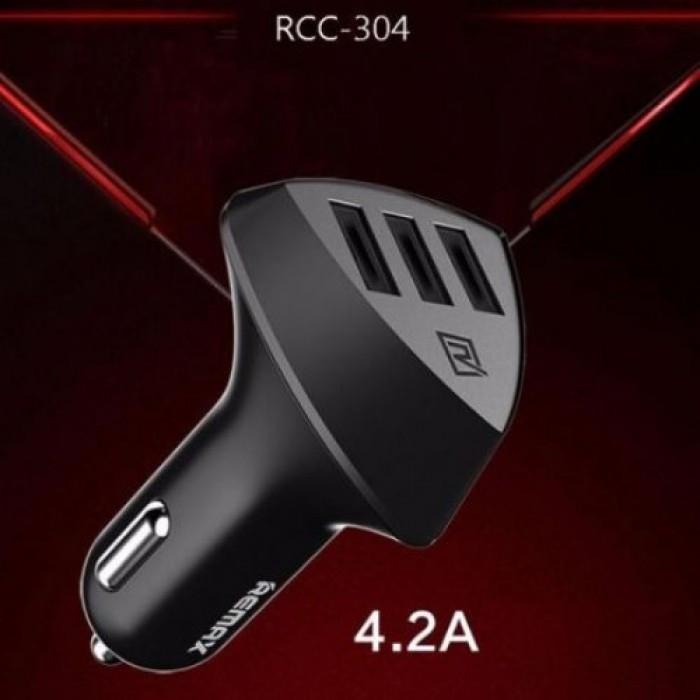 АЗУ авто зарядное 3 юсб 4.2 А - Remax RCC-304 Alien 3 USB car charger ( 88288 )