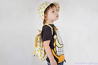 """Детские рюкзачки для мальчиков + панама, """"Ананасы"""", фото 1"""