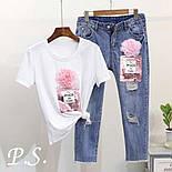 Женский костюм джинсы и футболка с рисунком 76101360, фото 3