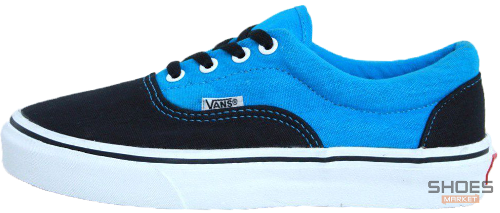 Мужские кеды Vans ERA Black/Light Blue,  Ванс Ера
