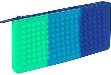 Пенал силиконовый KITE Education сине-зеленый K19-688-2