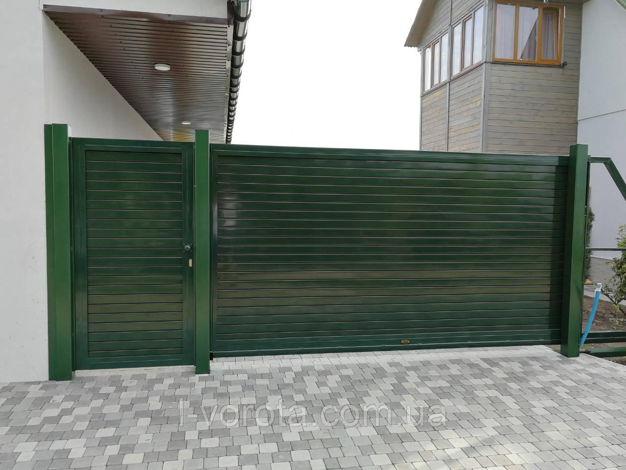 Откатные (сдвижные) ворота ТМ Хардвик ш3500, в2100 (дизайн стандарт)