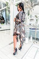 Шикарное нарядное жеское  платье ассиметрия