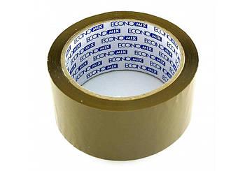 Лента клейкая упаковочная коричневая (скотч) 48*66
