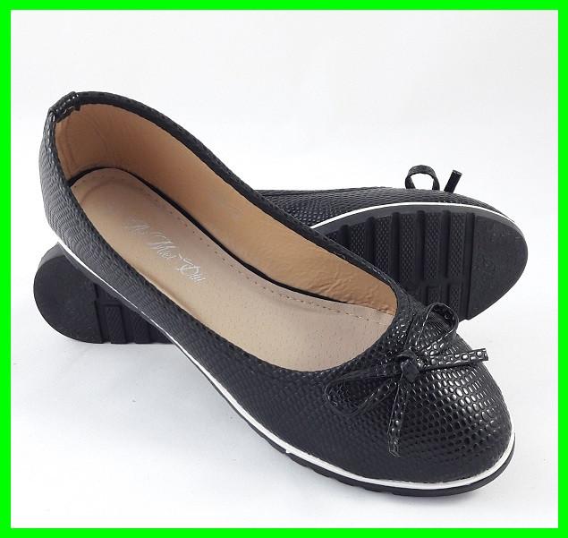 .Женские Балетки Чёрные Мокасины Туфли (размеры: 36,37,38,39,40) - 26
