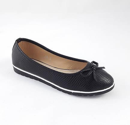 .Женские Балетки Чёрные Мокасины Туфли (размеры: 36,37,38,39,40) - 26, фото 3
